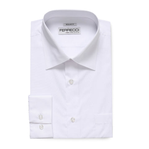 Ferrecci Virgo Snow White Regular Fit Dress Shirt
