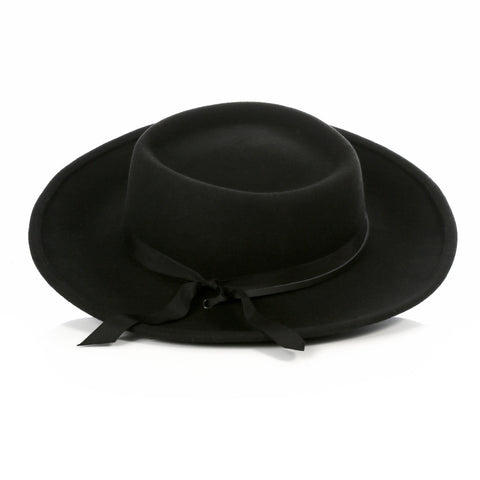 Black Wide Brim Fedora - Earp