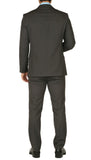 Windsor Charcoal Slim Fit 2pc Suit - FHYINC best men's suits, tuxedos, formal men's wear wholesale