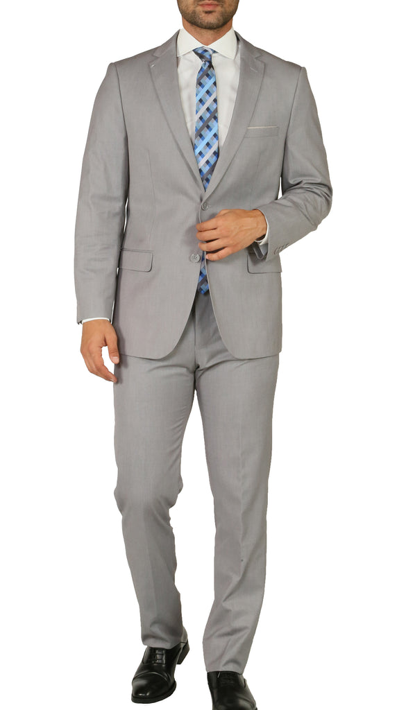Windsor Light Grey Slim Fit 2pc Suit - FHYINC best men