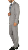 Windsor Light Grey Slim Fit 2pc Suit - FHYINC best men's suits, tuxedos, formal men's wear wholesale