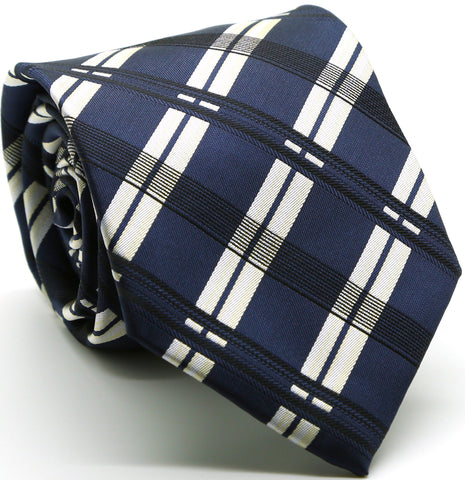 Sailboat Blue Necktie with Handkerchief Set