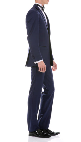 Celio Tux Premium Men's Slim Fit 3 pc Tuxedo Navy