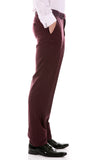 Celio Tux Premium Men's Slim Fit 3 pc Tuxedo Burgundy - FHYINC best men's suits, tuxedos, formal men's wear wholesale