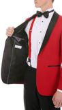 The Reno Mens Red  Shawl Collar 2pc Tuxedo - FHYINC