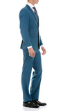 Oslo Teal Slim Fit Notch Lapel 2 Piece Suit - FHYINC