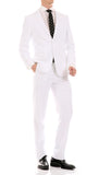 Oslo White Slim Fit Notch Lapel 2 Piece Suit - FHYINC