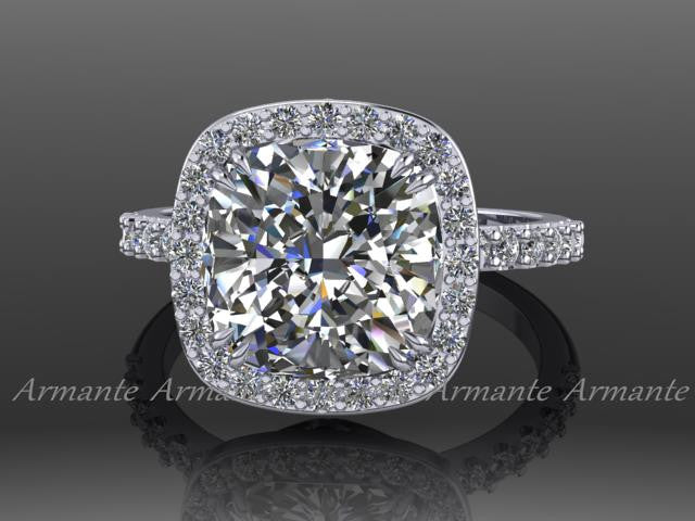 Moissanite and Diamond Rings