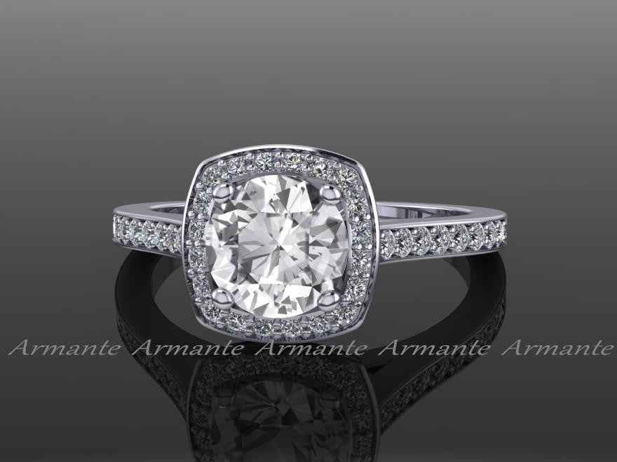 White Sapphire and Diamond Rings