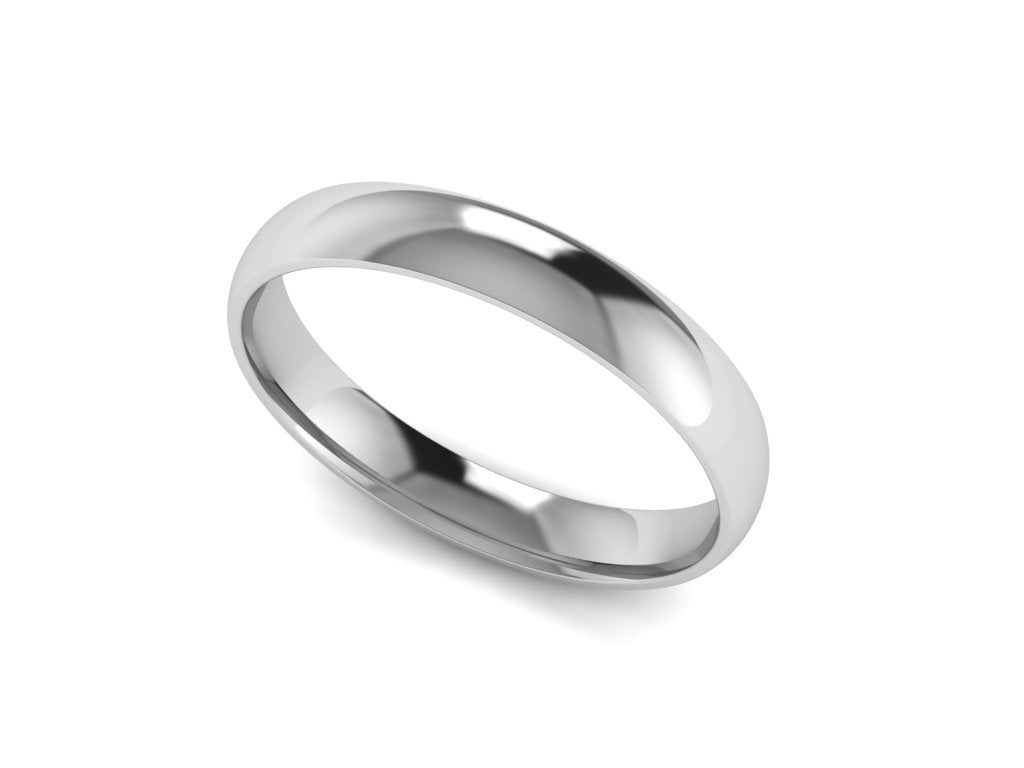 Womens Wedding Band Half Round 14k White Gold 2 50mm Wide