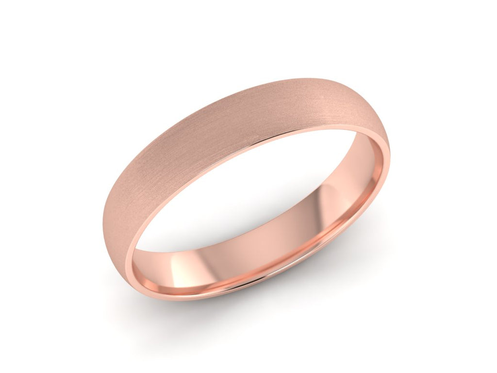 Womens Rose Gold Wedding Band