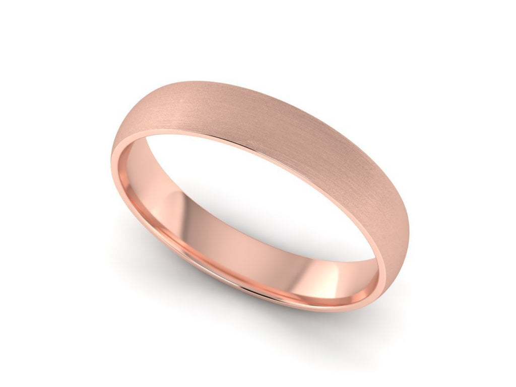 Mens rose gold wedding band
