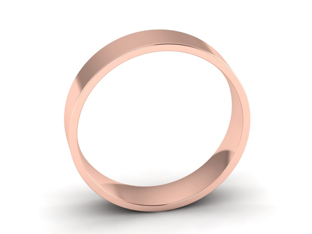 modern rose gold wedding ring