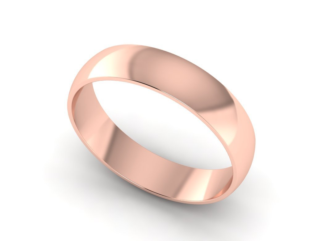 Hand Made 14k Solid Rose Gold Wedding Ring 5 00mm Wide