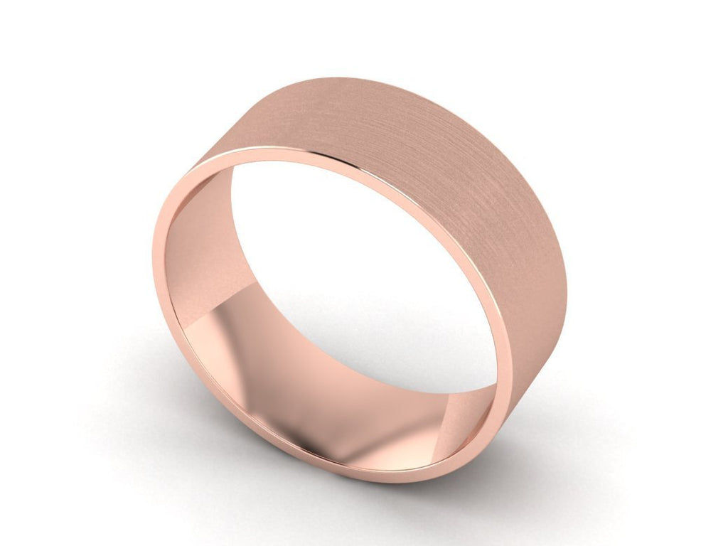 Brushed Wedding Band