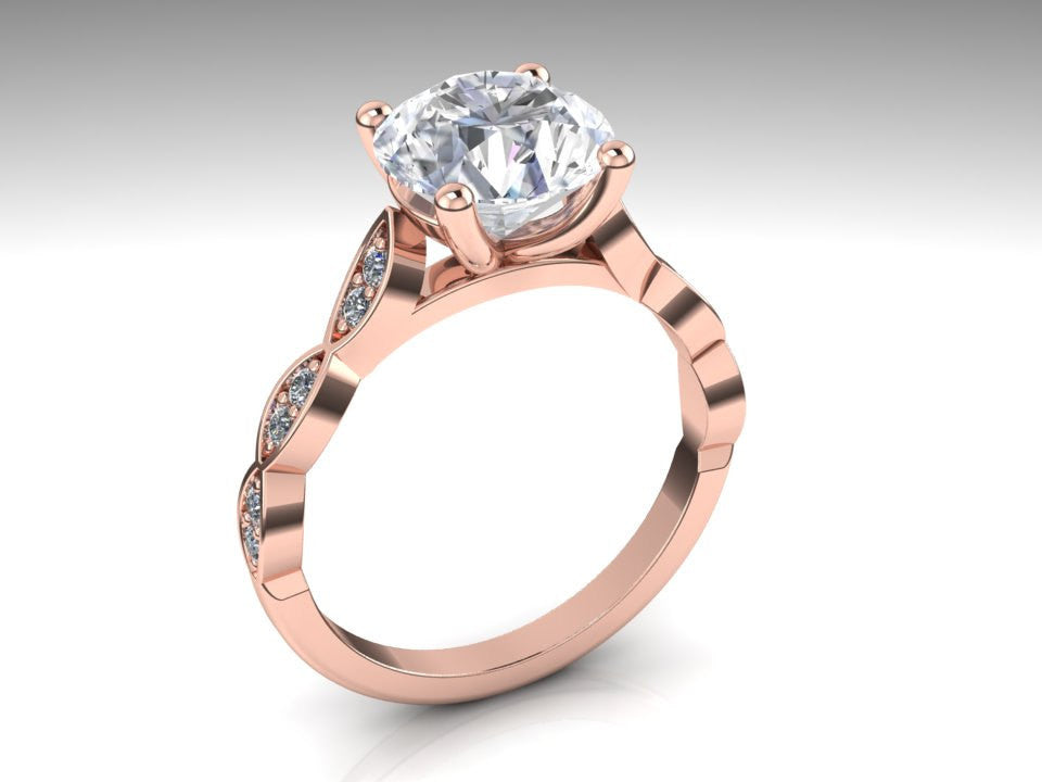 Leaves 14k Rose Gold Moissanite Diamond Engagement Ring Leaves 14k Rose Gold Moissanite Diamond Engagement Ring Armantedesign 1 790 00 Notify Me When This Product Is Available Size 3 5 3 75 4 4 25 4 5 4 75 5 5 25 5 5 5 75 6 6 25 6 5 6 75