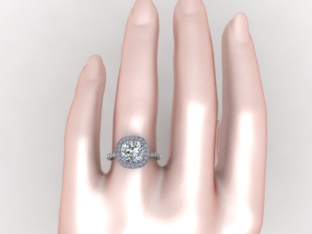 engagement rings cushion cut