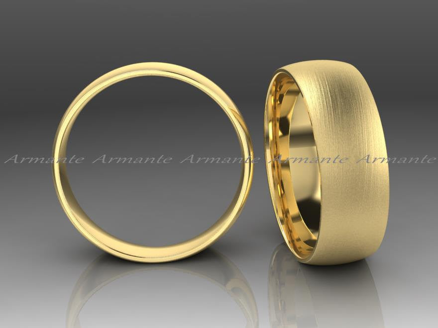 Yellow Gold Classic Wedding Band, 6.50mm Wide