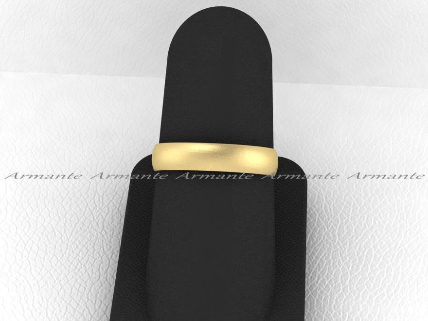 Yellow Gold Classic Wedding Band, 14K Yellow Gold 4.00mm Wide