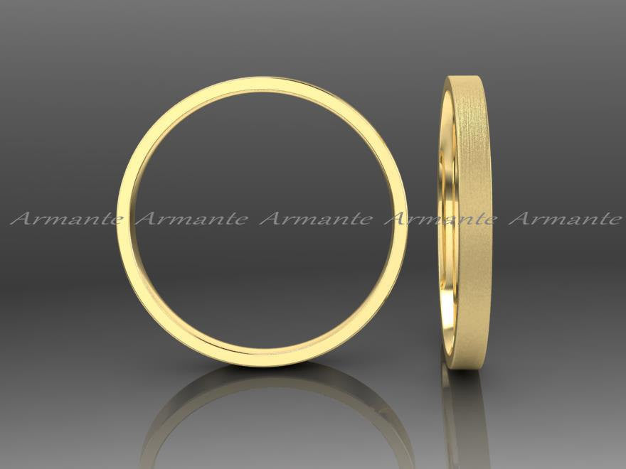 Womens Wedding Band, Gold Womens Wedding Ring 2.00mm Wide
