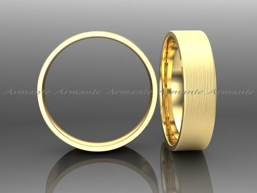 Yellow Gold Wedding Band, 5.00mm Wide