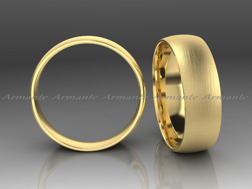 Classic Yellow Gold Mens Wedding Ring 6.00mm Wide