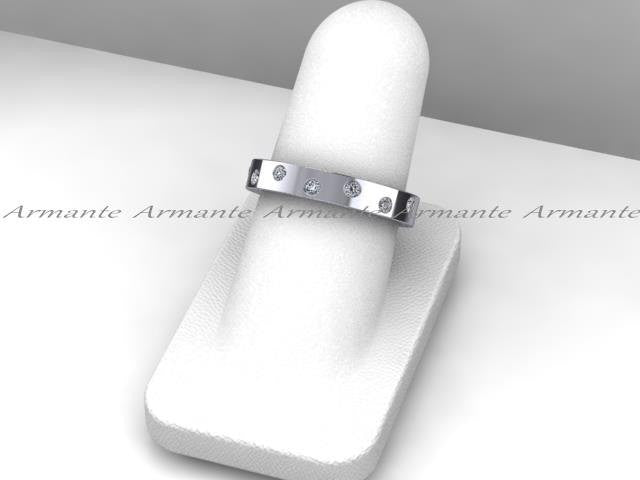 Diamond Eternity Wedding Band, 14K White Gold