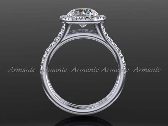 Forever Brilliant Moissanite Halo Diamond Wedding Ring