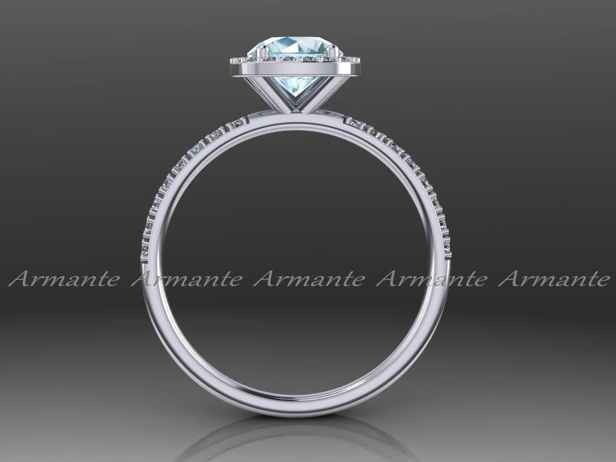 Diamond Alternative Halo Engagement Ring