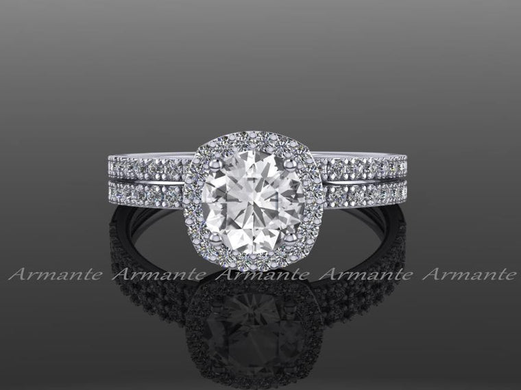 White Sapphire Wedding Rings, Diamond Free Engagement Rings