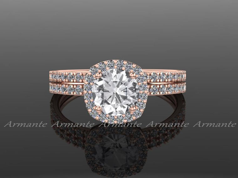 White Sapphire Engagement Sets Diamond Wedding Sets
