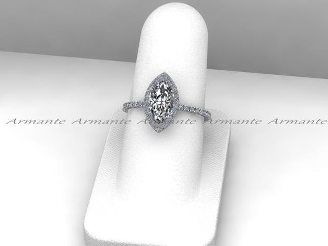 Marquise Cut Forever Brilliant Moissanite Engagement Ring