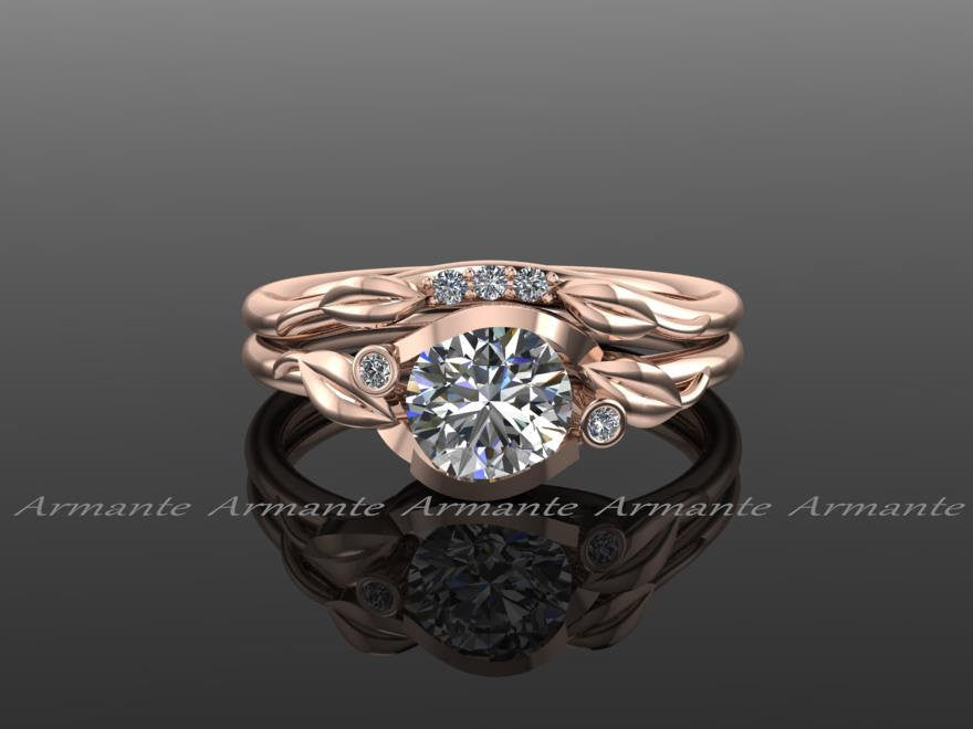 Flower Leaf Engagement Rings