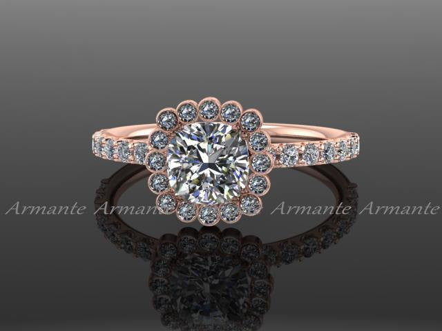 Forever Brilliant Moissanite Diamond Rose Gold Wedding Ring
