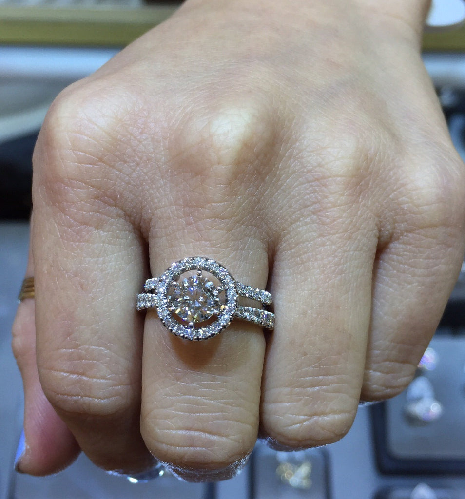 Ring Guard Enhancer, Diamond Halo Wedding Ring Enhancer
