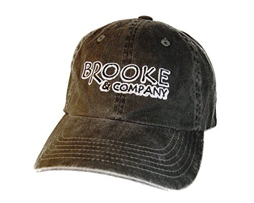 Brooke and Company Embroidered Baseball Cap - Black