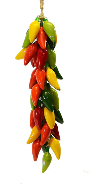 Small Ristra String Of Ceramic Jalapeno Peppers With 35