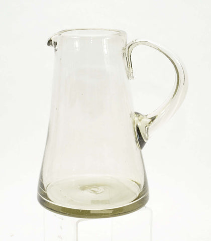 Handblown Recycled Martini Pitcher, Recycled Clear- 8.25 Inches High