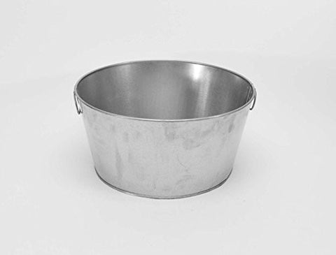 Galvanized Round Wash Tub-8 Inches High x 16 Inches Diameter