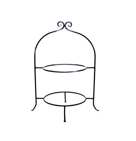Wrought Iron Two Tier Buffet Platter Rack-22.25 Inches High x 17.25 Inches Wide