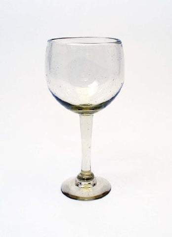 Set of 4, Bola Wine Glasses-12 Ounces, Handmade w/ Recycled Glass