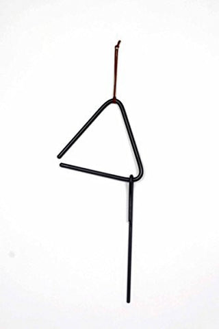 Iron Dinner Bell Triangle-10 Inches Long.