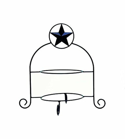 Iron Double Plate Holder Star Symbol-17 Inches High