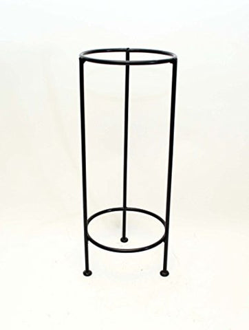 "Handmade Iron Floor Stand, Bronze Color- 21""H x 8 5/8""W."