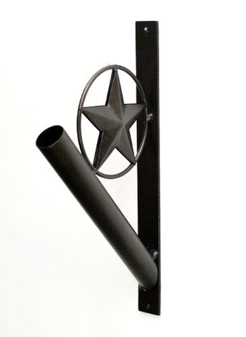Iron Flag Pole Holder, Star Design-13 Inches High
