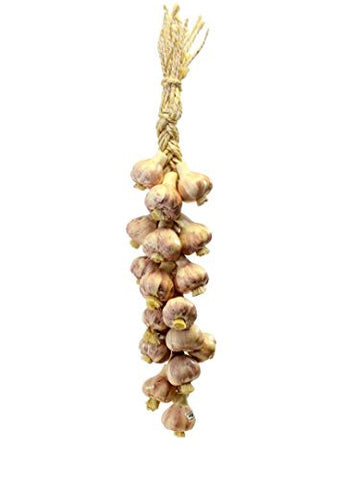 Ristra/ String of Ceramic Garlic, with 16-18 Garlics, 20 Inches Long
