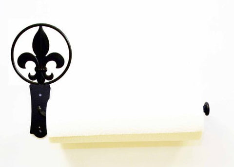 "FLEUR DE LIS WALL PAPER TOWEL HOLDER-15.5""Long X 9"" High"