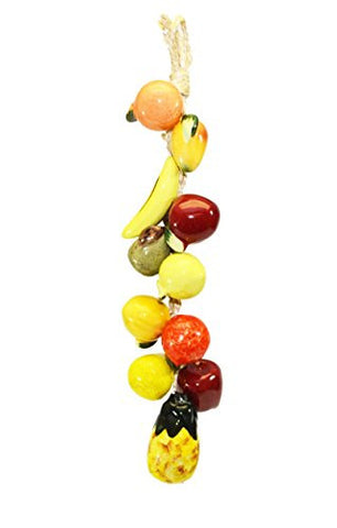 Small Ristra/String of Ceramic Fruits, with 11 Fruits-16.5 Inches Long