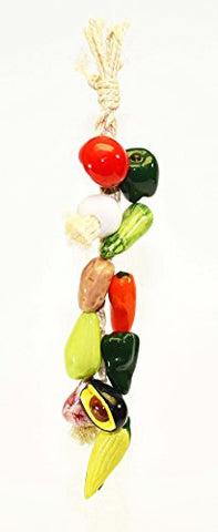 Small Ristra/ String of Ceramic Vegetables, with 11 Veggies-17 Inches Long
