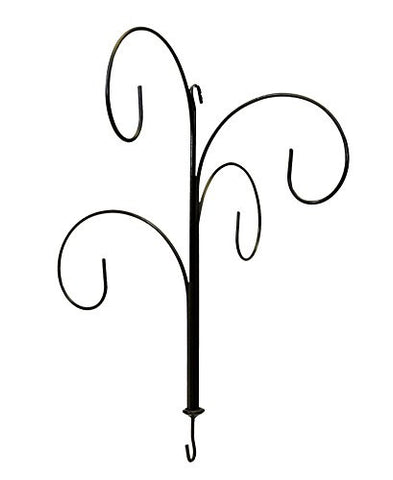 Four Hook Wrought Iron Hanging Ornament Display Stand-22 Inches High x 18.5 Inches Wide